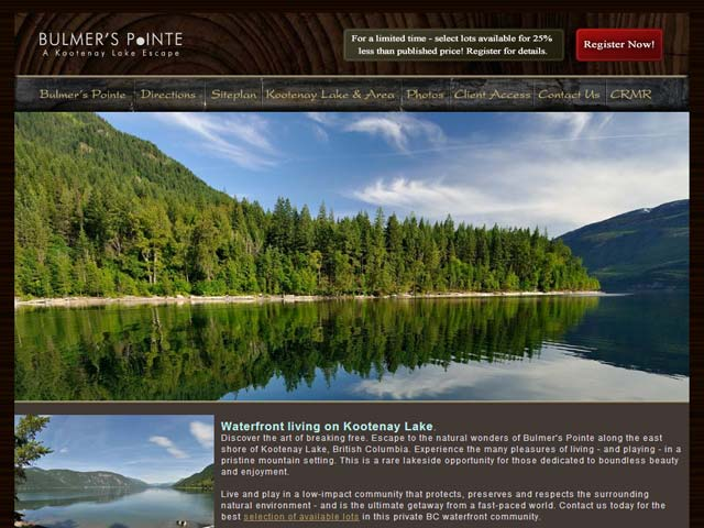 Bulmer's Pointe - Kootenay Lake waterfront property